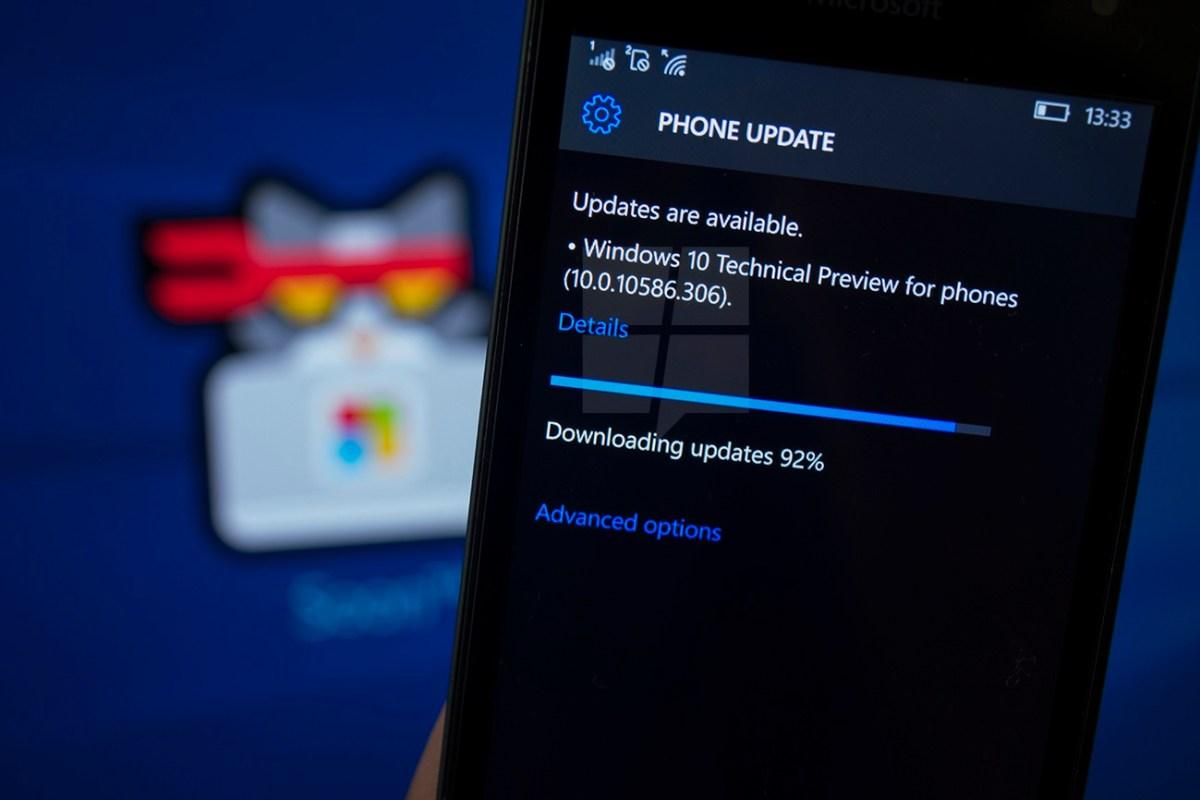 Build 10586.306 Windows 10 Mobile