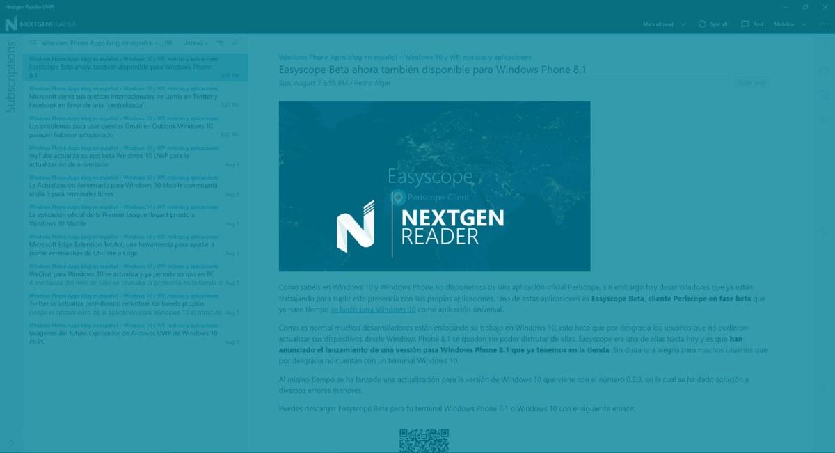 Nextgen-Reader-UWP