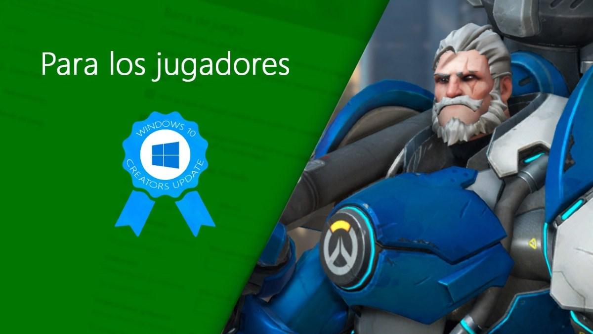 Todas las novedades para jugadores en Windows 10 Creators Update