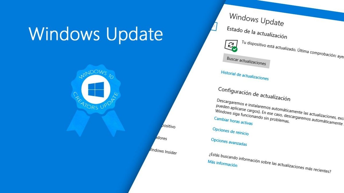 Novedades Windows Update en Windows 10 Creators Update