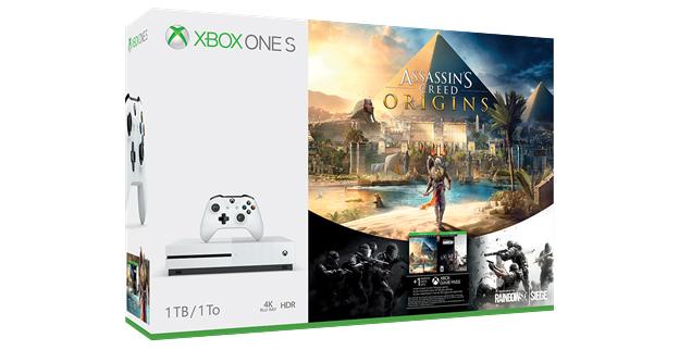 Pack de Xbox One S con Assassin's Creed Origins