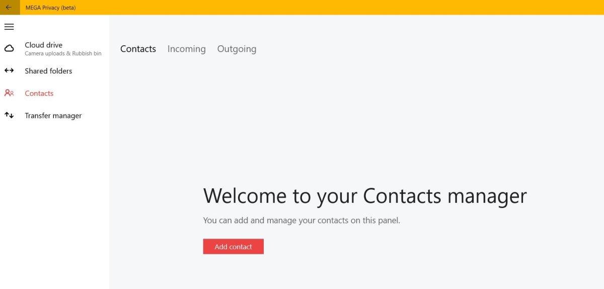 Mega Privacy se actualiza añadiendo contactos y las carpetas compartidas