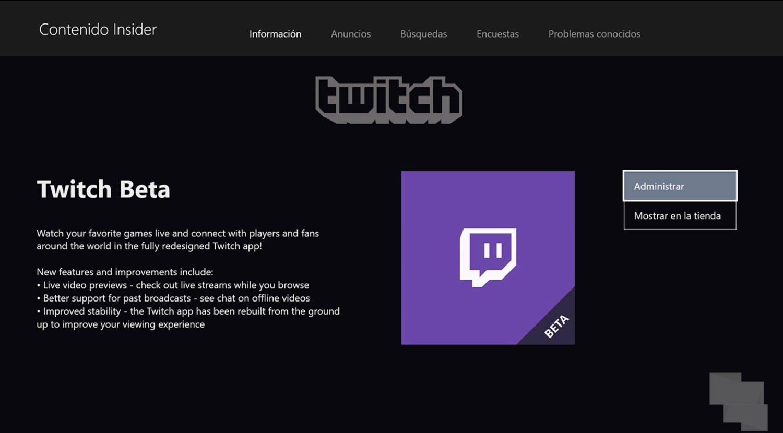Twitch app beta
