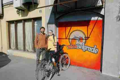 Mangels Beteiligung war ich der einzige Teilnehmer von Belgrad by Bike: Die Stadt ist überhaupt nicht radgeeignet