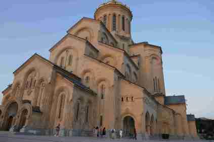 Tbilisi Sameba Cathedral, erst vor 12 Jahren fertiggestellt