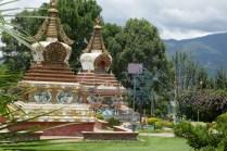 Stupas im Klostergarten