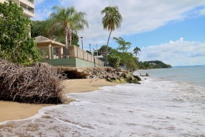 Sea level rise and the resulting coastal erosion affects the island's hotels and beaches, one of the main draws for tourism, said Ruperto Chaparro, director of the Puerto Rico Sea Grant Program. (Janice Cantieri/MEDILL)
