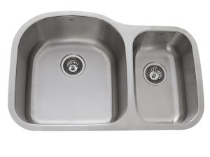 OU3120 9'7, Uneven Bowl, Double Bowl, Stainless Steel, Kitchen Sinks in Canada