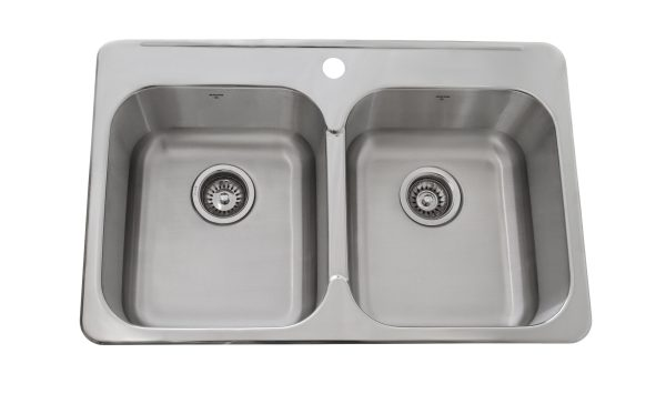 OD3120 8, Double Bowl, Drop-In, Single Hole, 1 Hole, Stainless Steel, Onex Enterprises, Sinks in Canada