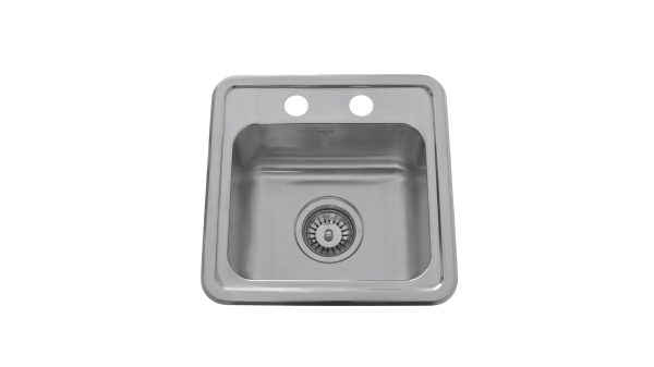 OD1515 6-2H, Drop In, Stainless Steel, 2 Hole, Kitchen Sink