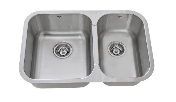 OU2818 8, Uneven, Double Bowl, Under mount, Stainless Steel, Onex Enterprises, Kitchen Sink in Canada