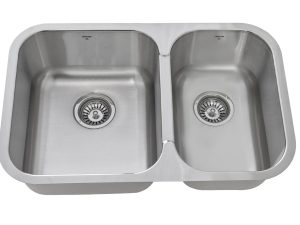OU2818 8, Uneven, Double Bowl, Under mount, Stainless Steel, Onex Enterprises, Kitchen Sink in Canada