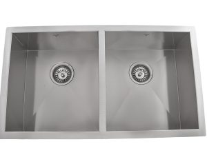 OU3218 SQ, Double Bowl, Stainless Steel, Undermount, Onex Enterprises, Kitchen Sinks in Canada