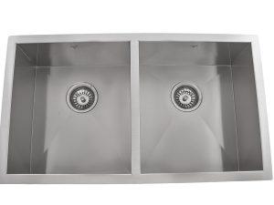 OU3218 SQ, Double Bowl, Stainless Steel, Undermount, Onex Enterprises, Kitchen Sinks in Canada