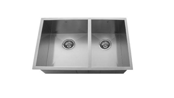 OU3219 SQ U, ONEX ENTERPRISES, ONEX CANADA, Kitchen Sink, Stainless Steel, Undermount, Uneven Double Bowl