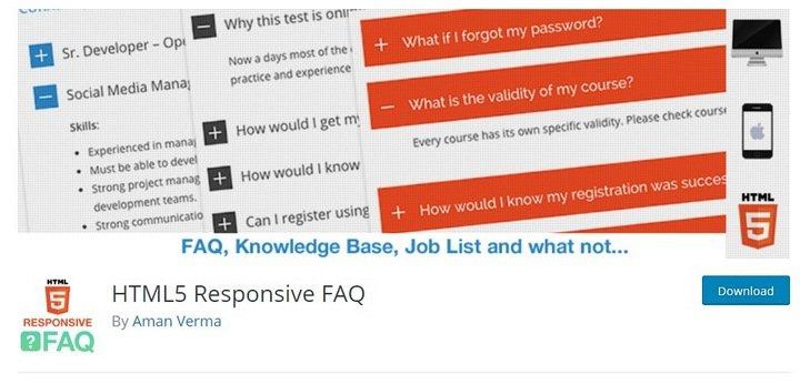 html5-faq Top 10 WordPress FAQ Plugins For Improving Customer Support