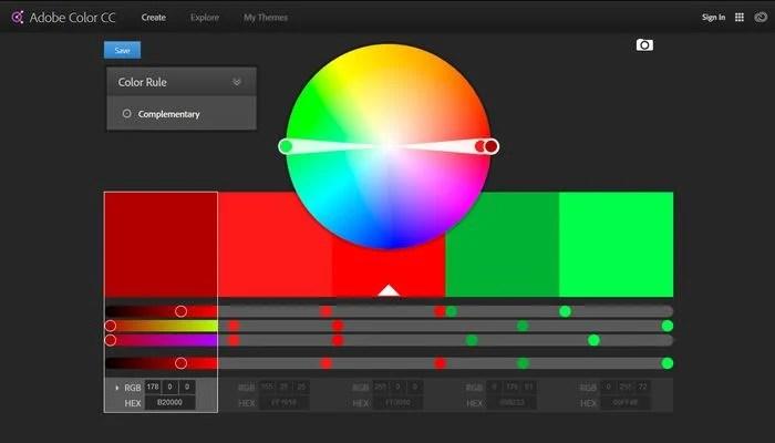 Adobe Color CC Color Palette Generator