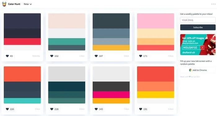 Colorhunt Color Palette Gallery