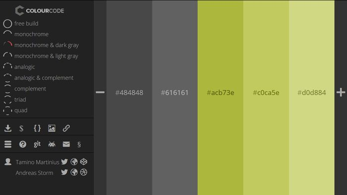 ColourCode Color Palette Generator