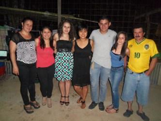 The Chinchilla family: Luz, Nicol, Maria, (me), Memito, Daniela, Memo