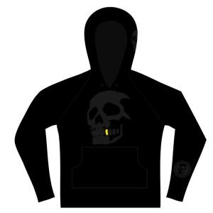 Hammerbrooklyn Girl Black Skull Hooder
