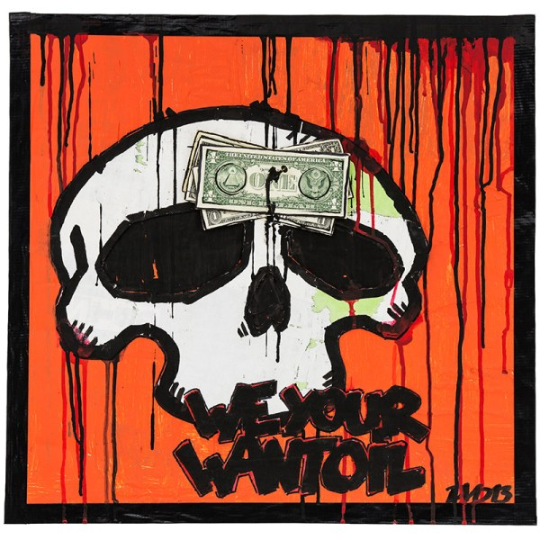 Dirk Vorndamme | We want your Oil | Orange
