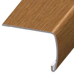 Laminate Flooring Sunken Living Room How To Decorate Wall Shelves Versaedge Stair Nose 94-inch Tarkett Praline Pecan Swirl ...