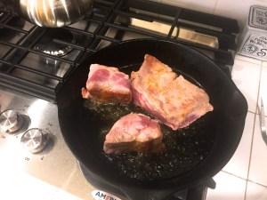 sear meat