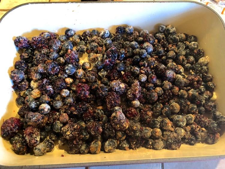 Berries tossed