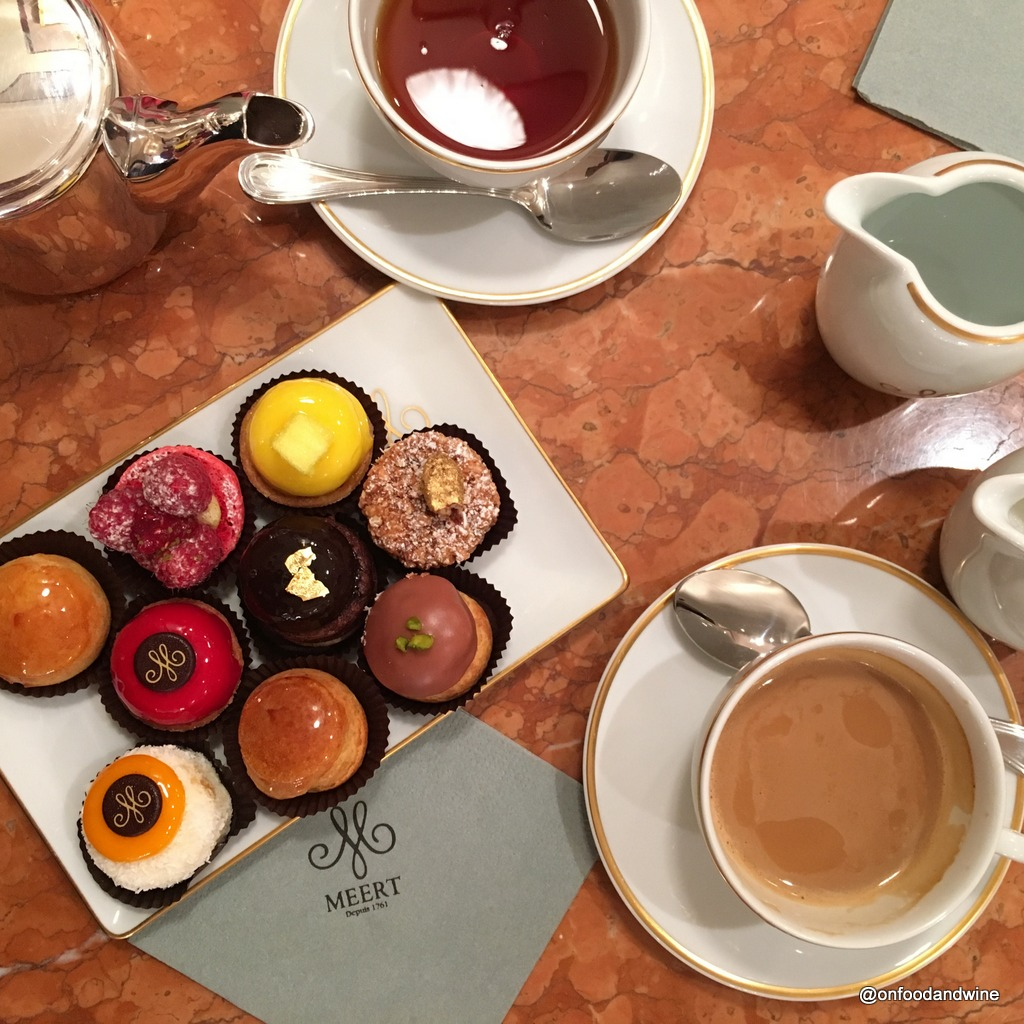 [new blog post] enyoing afternoon tea & sweets at #Meert in #Brussels