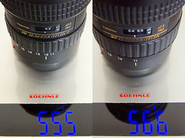 Tokina AT-X 116 F2.8 PRO DX II (11-16mm) vs Tokina AT-X 11-20mm F2.8 PRO DX