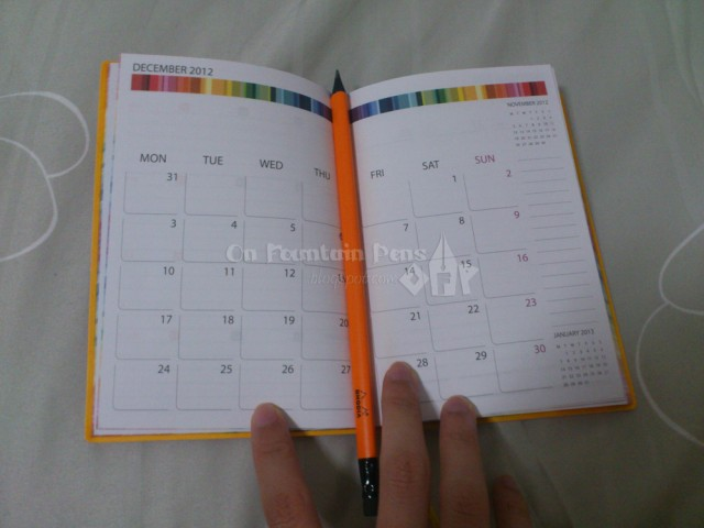 Monthly view at the start of each month. Something which is very useful to me! When I choose a diary I normally pick one with a monthly view, and this is perfect!