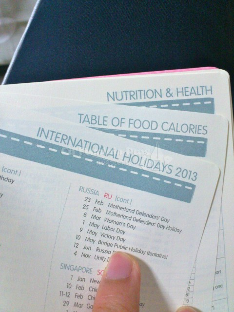 Abovementioned nutrition information and holidays...