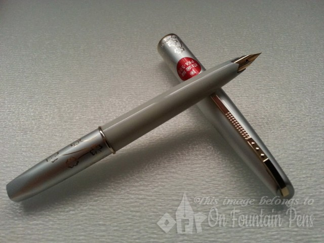 The Platinum Pocket Pen, with flowers, from the 1970s!