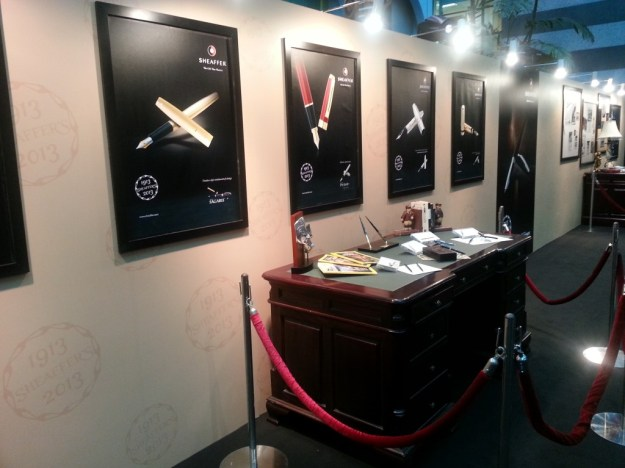 Series of posters showing Sheaffer pens through the ages