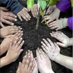Kids Pat Down Soil Image