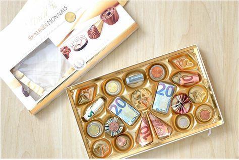 Kreative, dekorative und nicht zuletzt appetitliche Art ein Geldgeschenk zu verpacken_