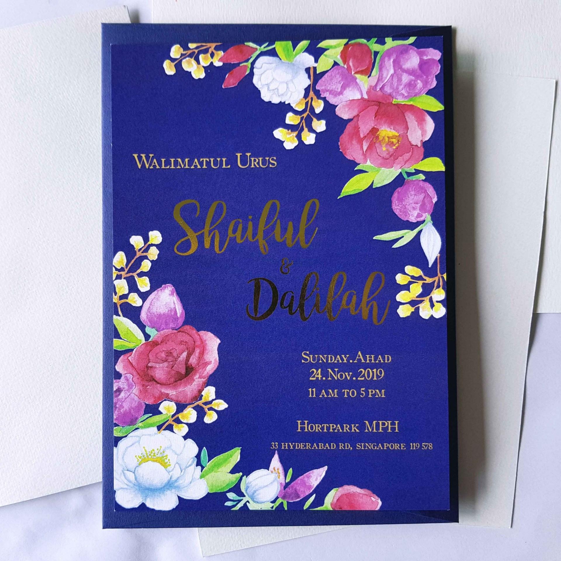 Custom Illustration - Wedding Invitation for Shaiful