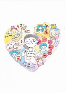 Illustration - Picture Cloud for Jurong Pharmacy team - watercolour