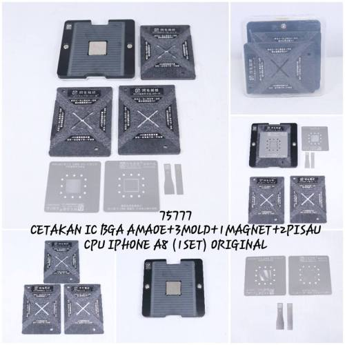 CETAKAN IC BGA AMAOE+ 3MOLD+1MAGNET+2PISAU CPU IPHONE A8 (1SET) ORIGINAL