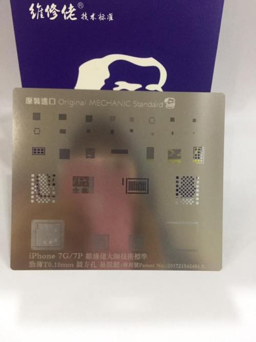 CETAKAN IC MECHANIC S20 IPHONE 7G/7P [34 IN 1] ORIGINAL