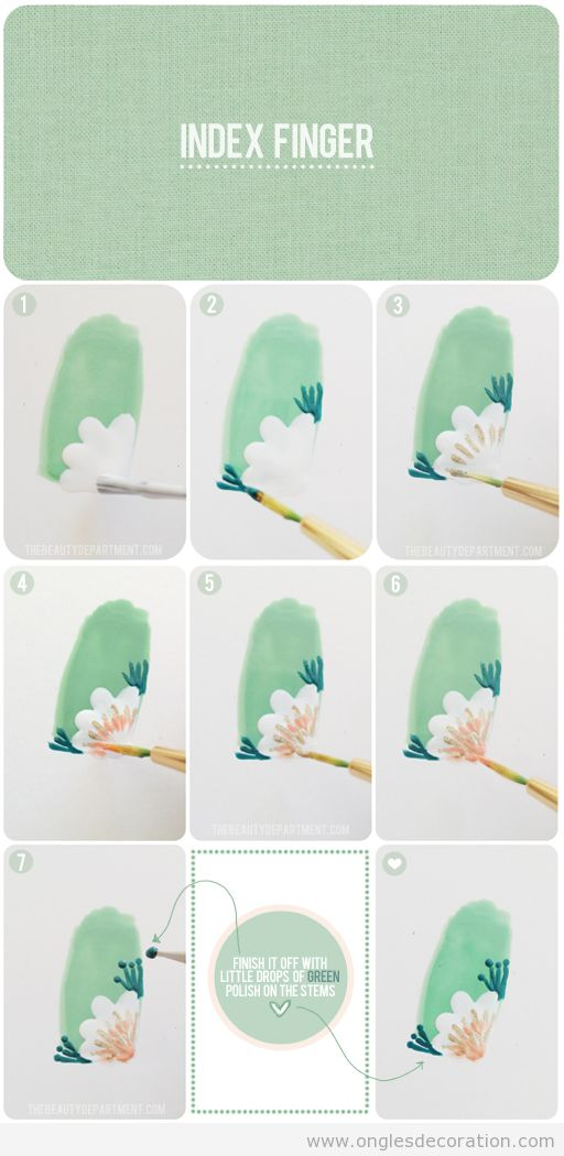 comment dessiner une fleur sur le coin de l ongle pas pas d coration d 39 ongles tout sur le. Black Bedroom Furniture Sets. Home Design Ideas