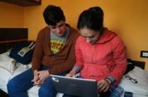 Adelina şi Andrei, la lucru