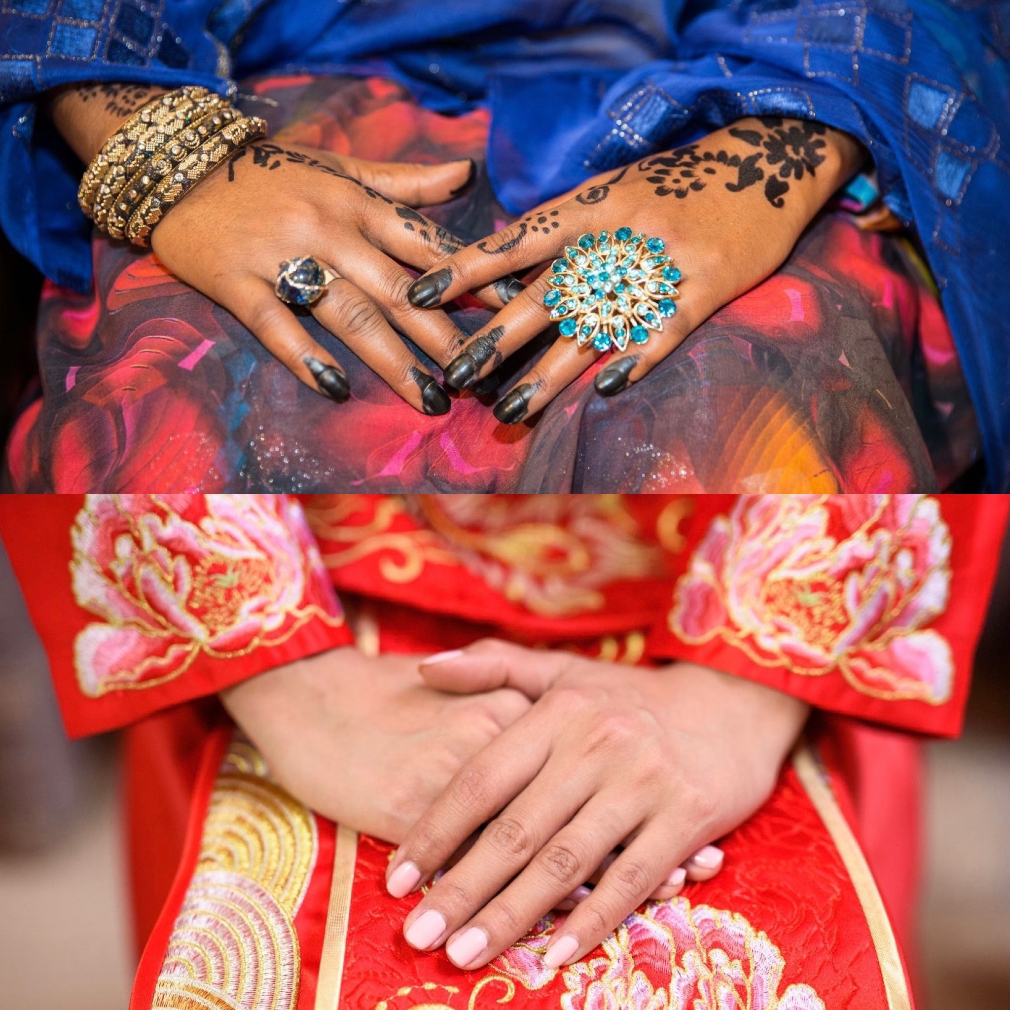 African and Chinese brides