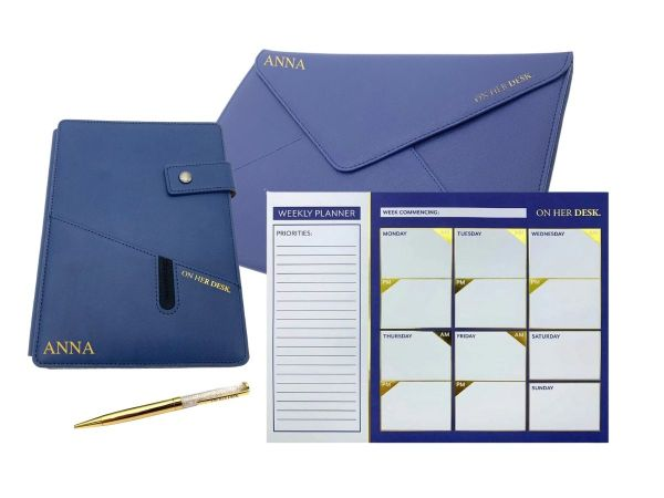 Navy blue signature collection stationery bundle