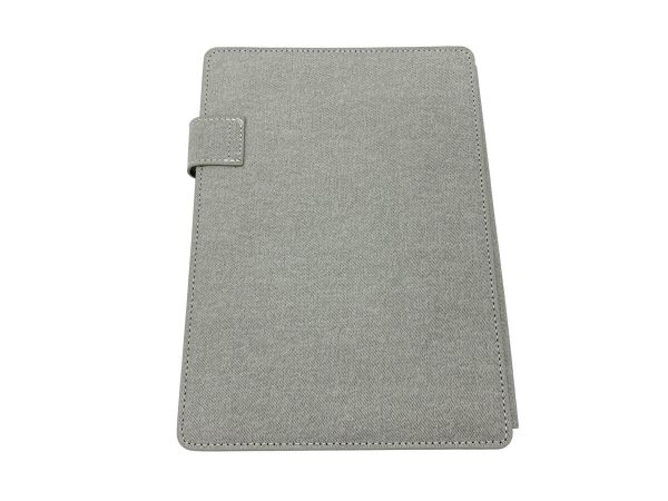 A5 covered notebook in grey back cover