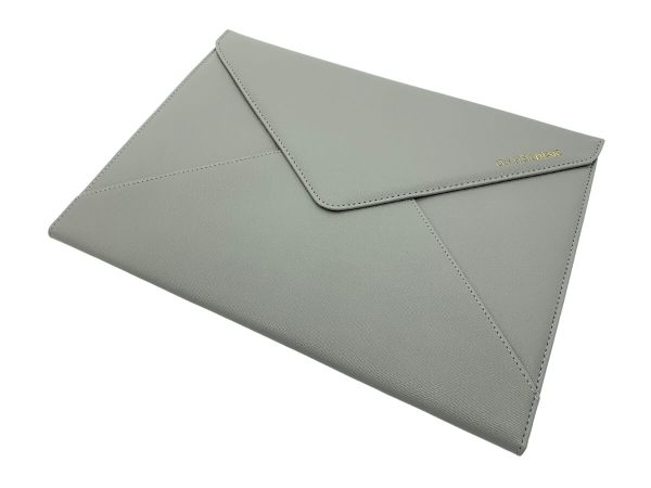 document or laptop wallet grey