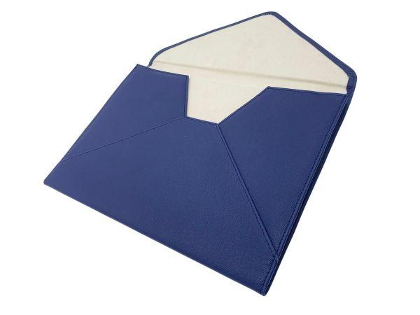 document or laptop wallet navy blue inside