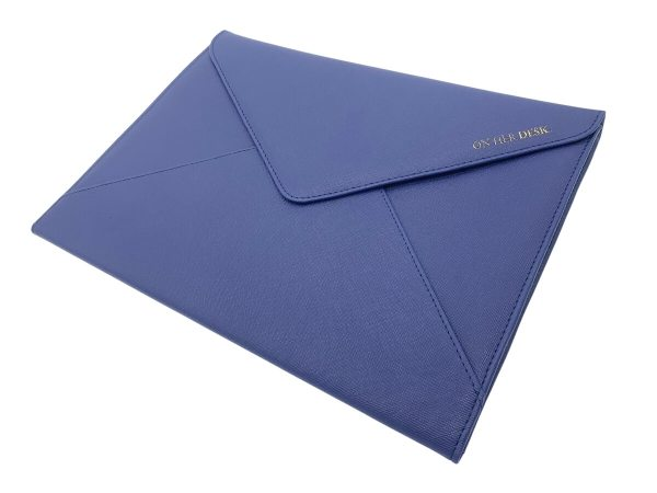 document or laptop wallet navy blue