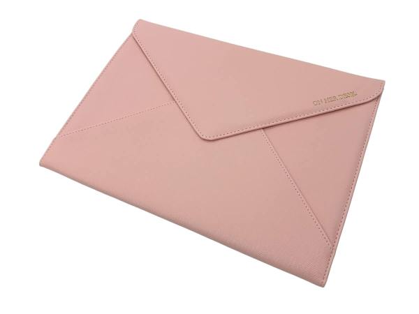 document or laptop wallet pink